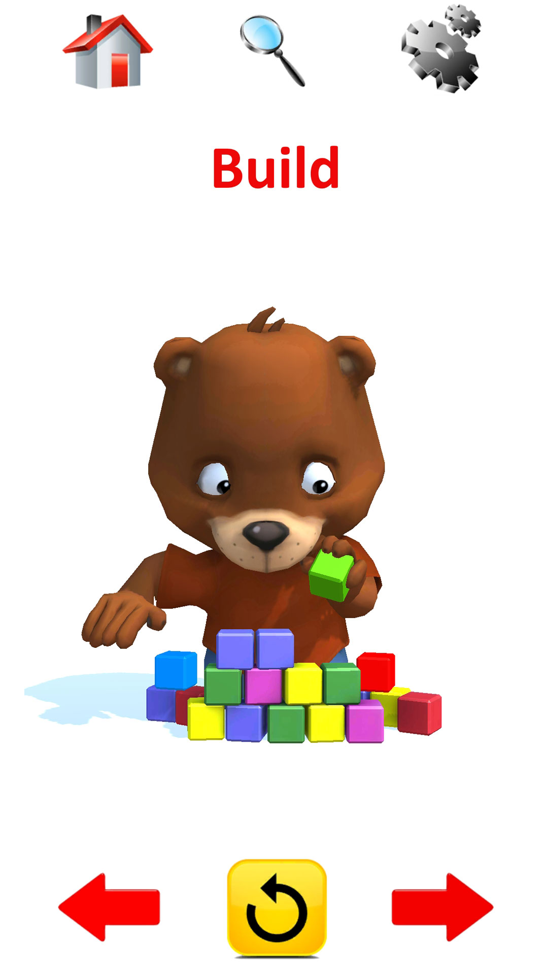Action Words : 3D Animated Preschool Flashcards - kids